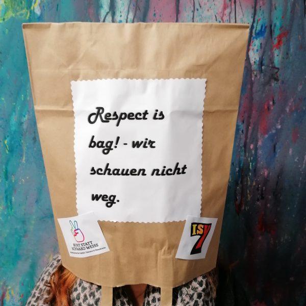 """""""RESPECT IS BAG - Wir schauen nicht weg!"""" Mitmach-Fotoaktion ab 08. März 2021 #BSSW"""